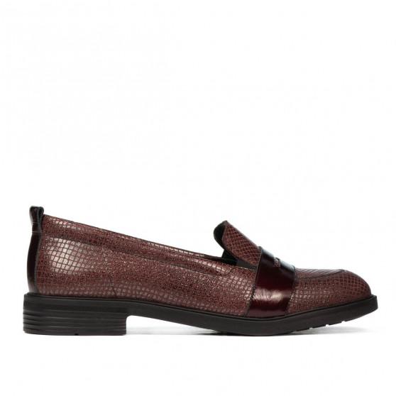 Pantofi casual/eleganti dama 6037 bordo sidef combinat