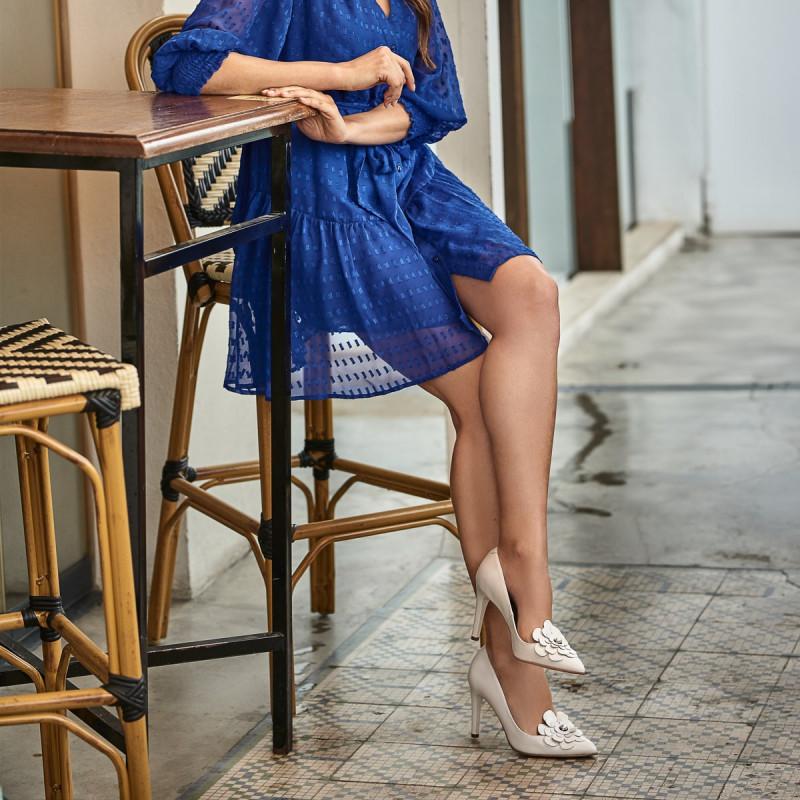 Pantofi eleganti dama 1282 alb fildes lifestyle