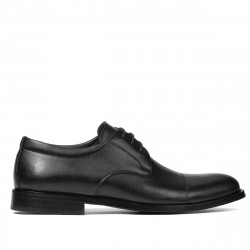 Men stylish, elegant shoes 930 black