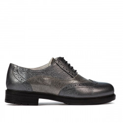 Women casual shoes 683 gray pearl