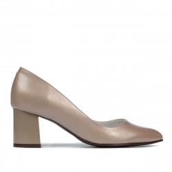 Women stylish, elegant shoes 1283 cappuccino