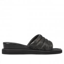 Women sandals 5074 black piton