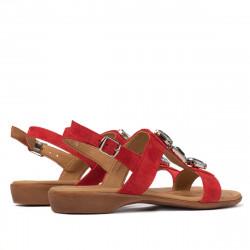Women sandals 5073 red velour