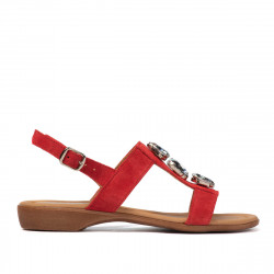 Sandale dama 5073 rosu velur
