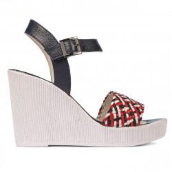 Sandale dama 5080 indigo combinat