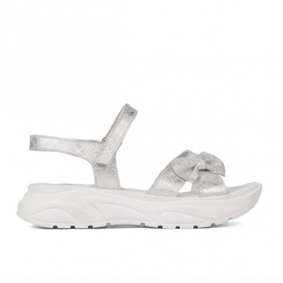 Sandale copii 538 alb sidef (argintiu)