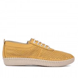 Women loafers, moccasins 6034 yellow