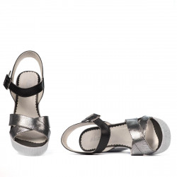 Women sandals 5081 silver combined