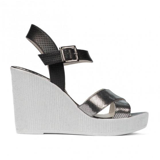 Sandale dama 5081 argintiu combinat