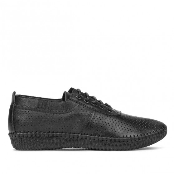 Women loafers, moccasins 6034-1 black