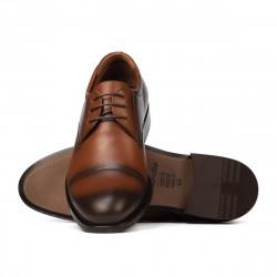 Men stylish, elegant shoes 930 a brown