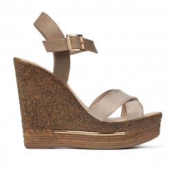 Sandale dama 5078 bej+auriu