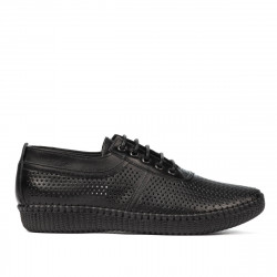 Women loafers, moccasins 6034 black