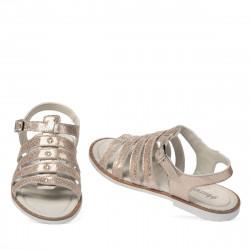 Women sandals 5077 pink pearl