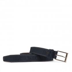 Men belt 05bc blue velour