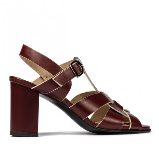 Women sandals 1284 bordo