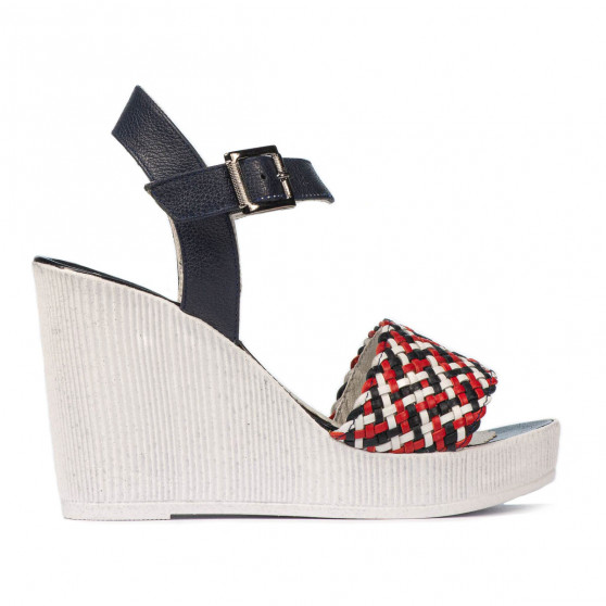 Sandale dama 5080-1 indigo combinat