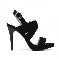 Women sandals 1286 black antilopa
