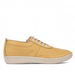 Women loafers, moccasins 6034-1 yellow