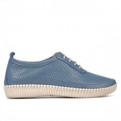 Women loafers, moccasins 688 bleu