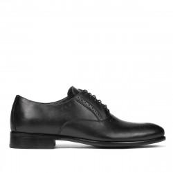 Men stylish, elegant shoes 932 black