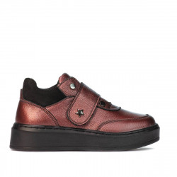 Pantofi copii 2009 bordo sidef combinat