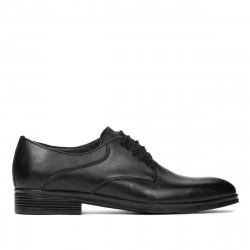 Men stylish, elegant shoes 933 black