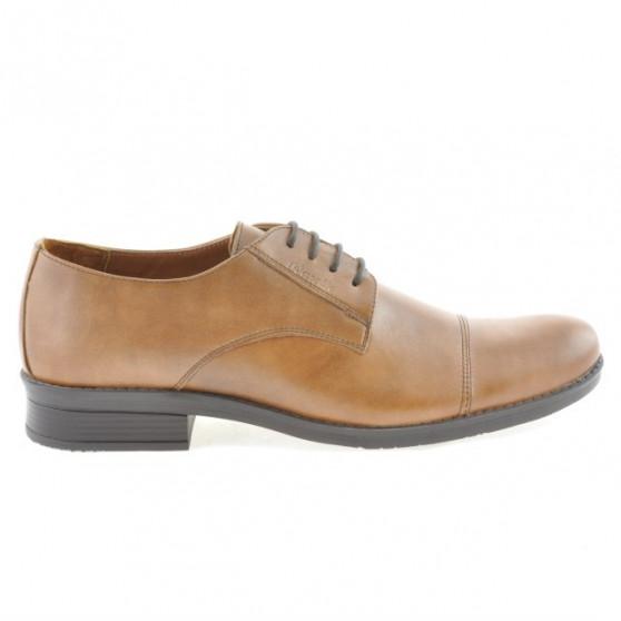 Men stylish, elegant shoes 787 brown cerat