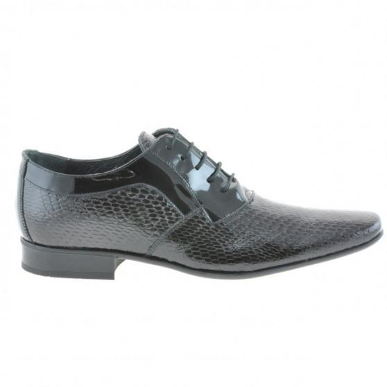 Pantofi eleganti barbati 798 croco lac negru
