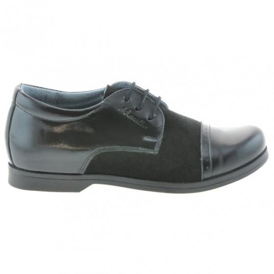Children shoes 132 patent black+black velour