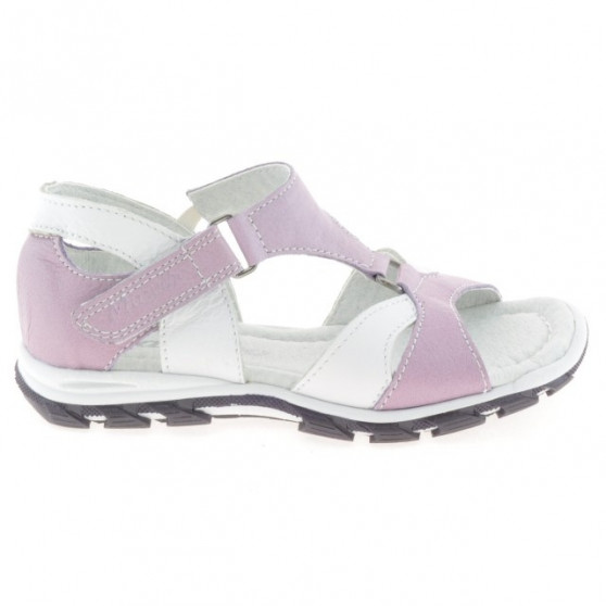 Small children sandals 09c purple+white 1