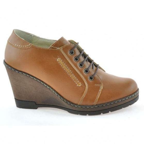 Pantofi casual dama 625 maro cerat