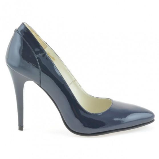 Women stylish, elegant shoes 1230 patent indigo