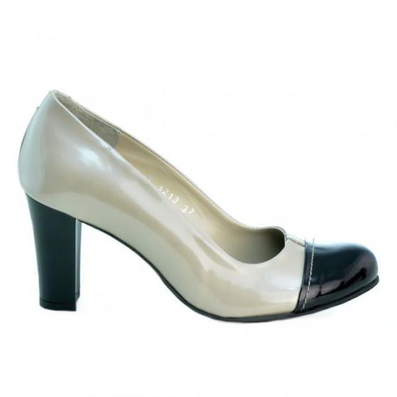 Pantofi eleganti dama 1213 lac bej+negru