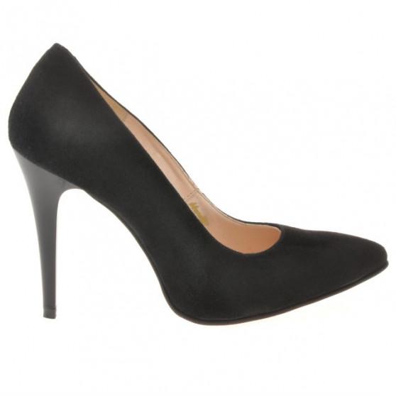 Women stylish, elegant shoes 1241 black antilopa