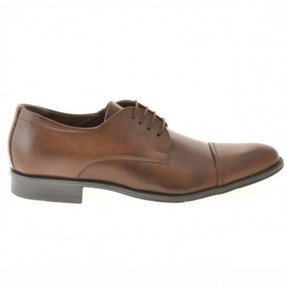 Men stylish, elegant shoes 785 brown