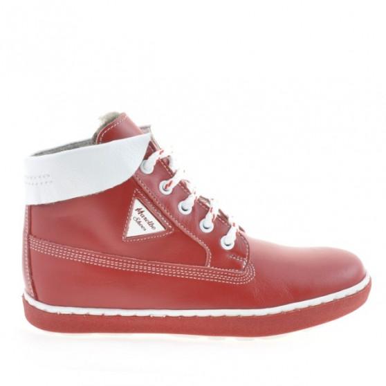Children boots 3206 red+white