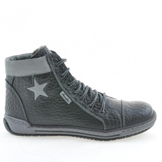 Women boots 3274 black+gray