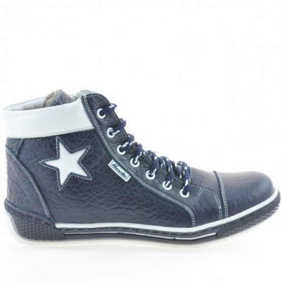 Women boots 3274 indigo+white
