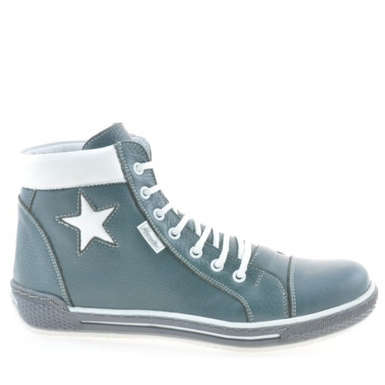 Women boots 3274 gray+white
