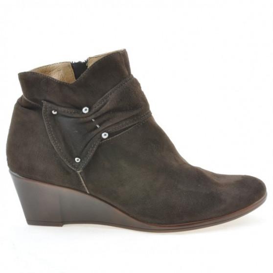 Women boots 242 cafe velour