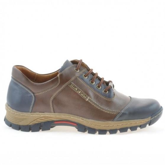 Men sport shoes 852 indigo + brown 1