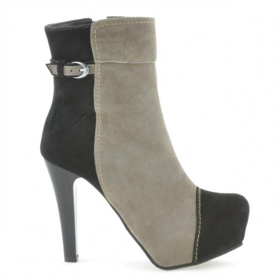 Women boots 1148 black antilopa+cappuccino