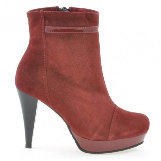 Women boots 1130 burgundy antilopa