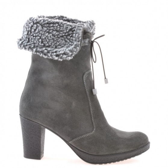 Women knee boots 3266 antracit velour