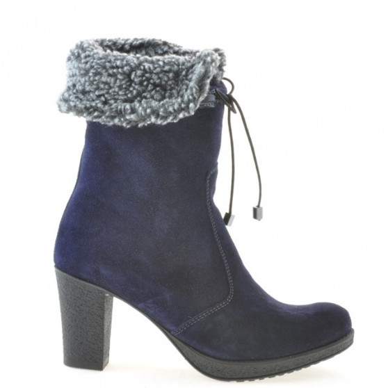 Women knee boots 3266 indigo velour