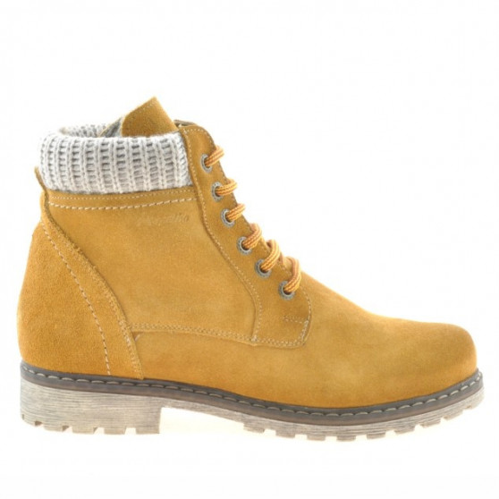 Women boots 3269 yellow velour