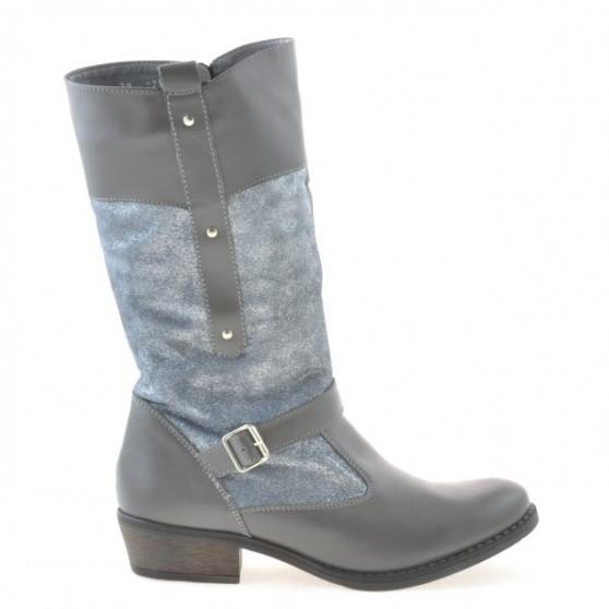 Women knee boots 225 gray combined