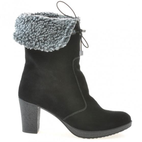 Women knee boots 3266 black velour
