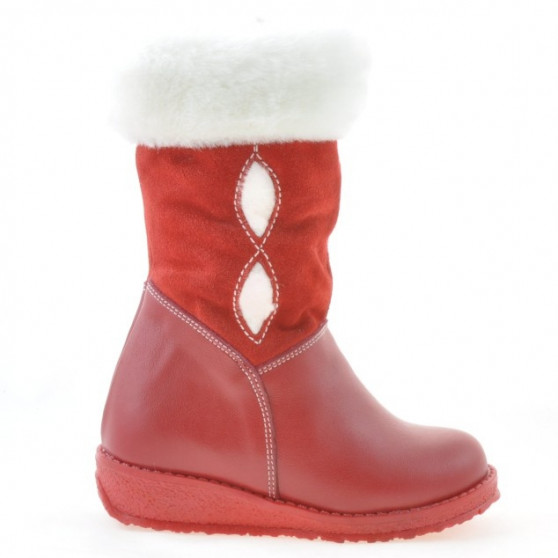 Small children knee boots 24c red combined